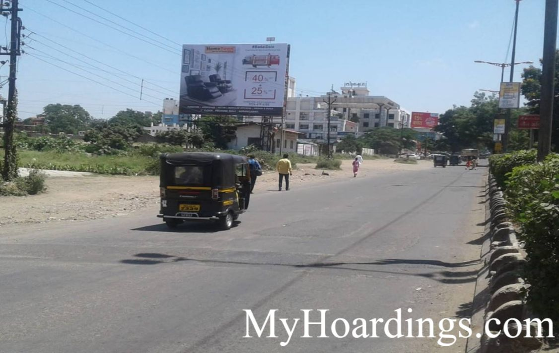 How to Book Hoardings in Aurangabad, Best outdoor advertising company Tapdiya Ground Facing To Baba Petrol Pump in Aurangabad